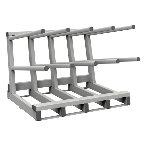 Stationary racks for cylinders
