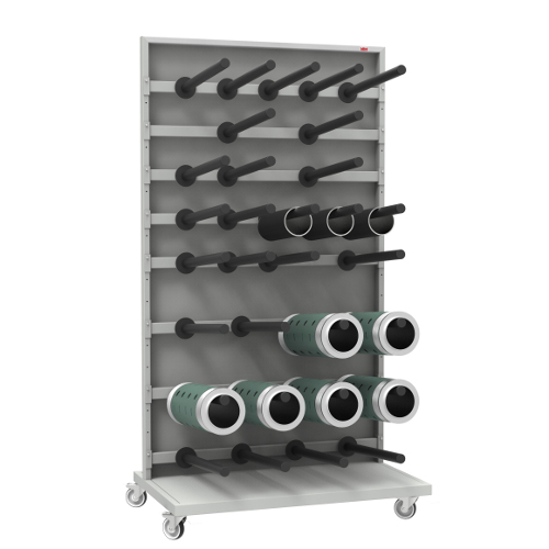 Cabinets and racks for magnetic cylinders