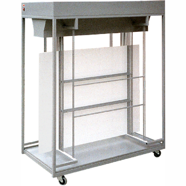 Dryer trolley for offset plates with fans WSB-N