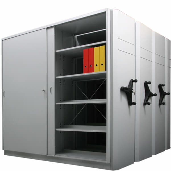 Sliding racks with mechanical drive