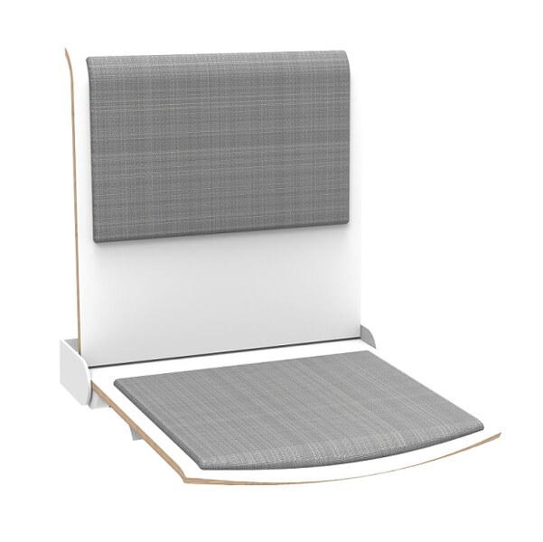 Tip-Up Seat self-return mechanism, upholstered TPS1 AT